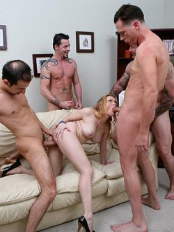 Aiden was looking for a party, so we invited her to the one in our pants. This slut �