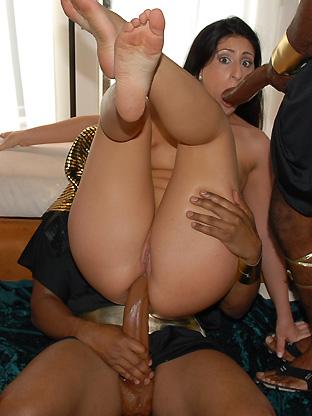 Interracial anal cum joy