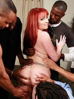 The only thing kinky Kylie Ireland likes better than a huge dick are five huge dicks �